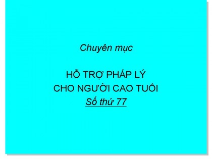Chủ tịch Hội NCT xã được hưởng phụ cấp theo quy định